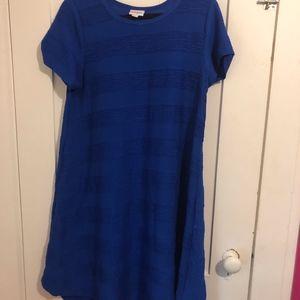 Blue Lularoe Carly Dress